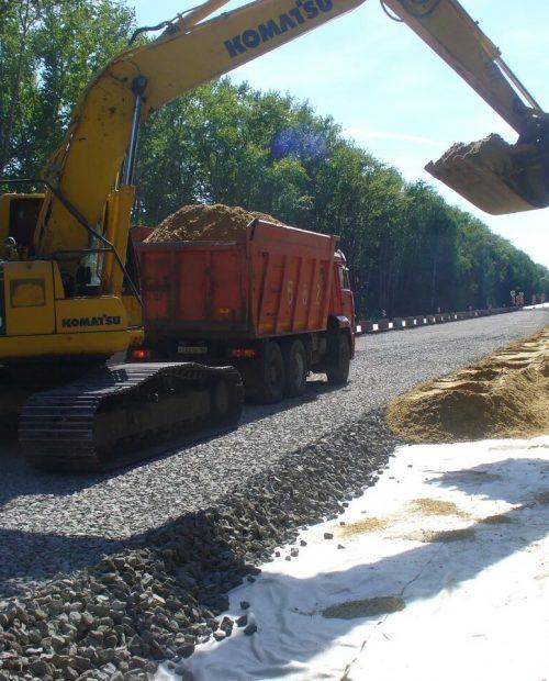 поставка карьерного песка для строительства дорог